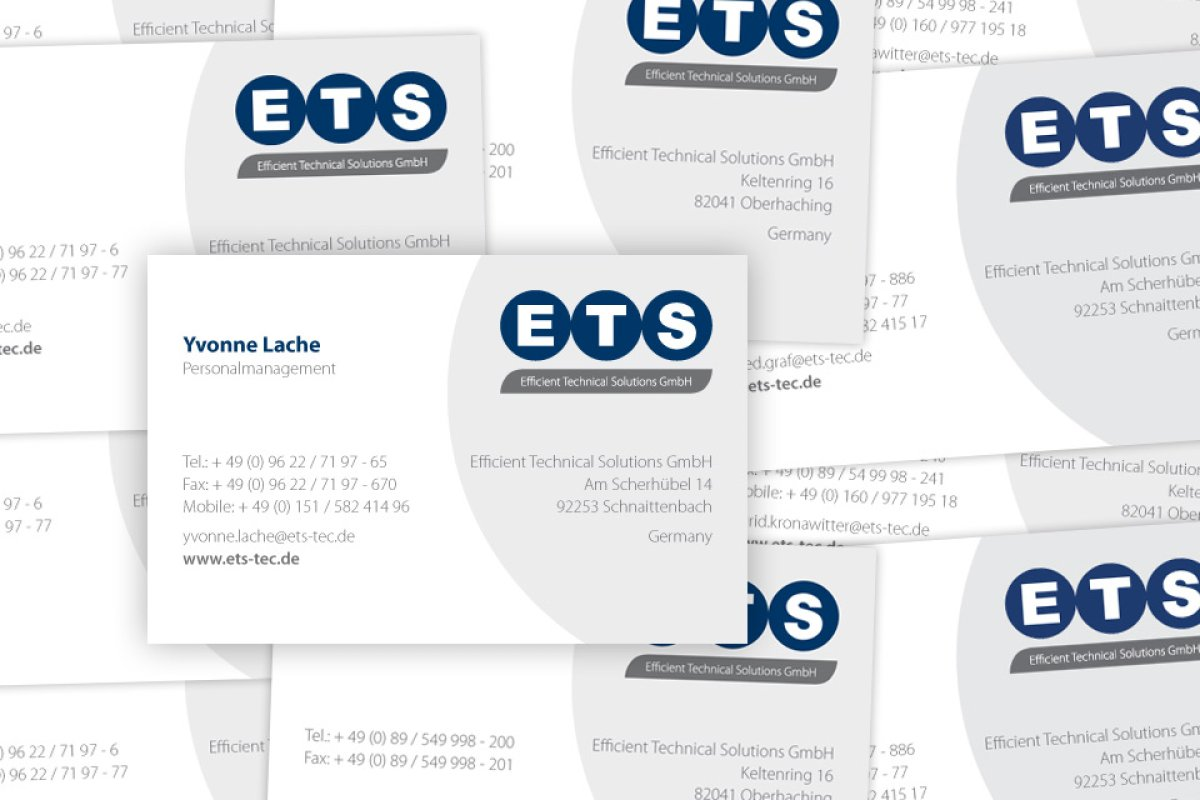 Corporate Design - ETS - Efficient Technical Solutions GmbH